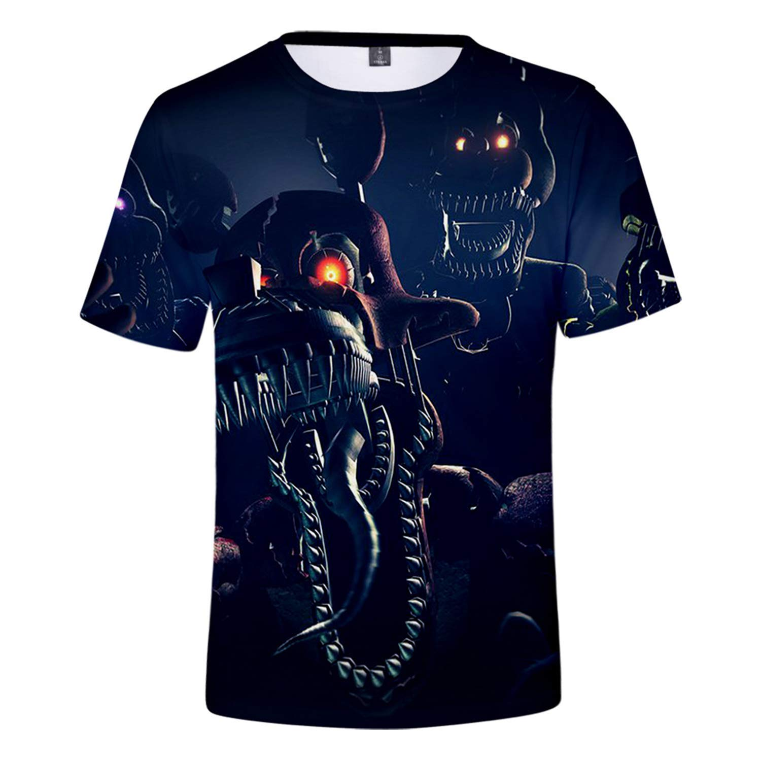 Dio Fortunato Five Nights At Freddys 4 Unisex 3D Stampato Estate Casuale Manica Corta T Shirt Tees