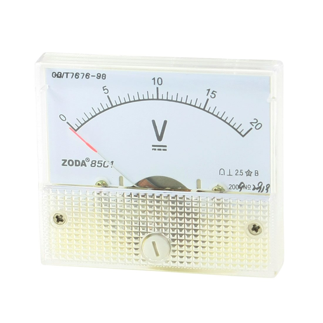 sourcingmap/® DC 0-20V Fine Tuning Rectangle Dial Panel Analog Voltage Meter Voltmeter