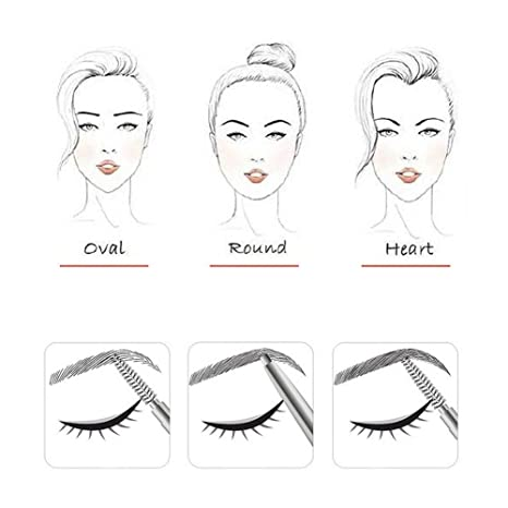 Ceja Lápiz, Eyebrow Pencil, Lápiz de cejas automático, Long Lasting resistente al agua y cejas lápiz, forma las cejas, suave y lisa Mode de maquillaje Tool, ...