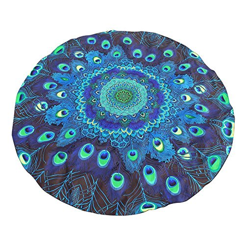 NRUTUP Round Printing Hippie Tapestry Beach Picnic Throw Yoga Mat Towel Blanket Clearance Hot Sales(Blue,Free Size)