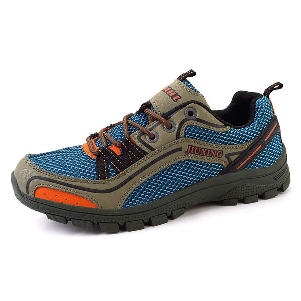SELCNG Chaussures de randonnée Unisexes Chaussures de Marche imperméables Chaussures de Marche pour Hommes avec Chaussures de randonnée pour Sports de Plein air-blue-42