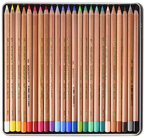 - Koh-i-noor Gioconda Soft Pastel Pencils, 24 Assorted