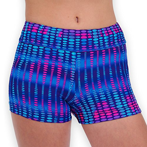 Pelle Gymnastics and Dance Shorts - Electric Pulse/Blue - A Small