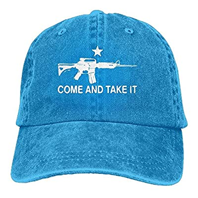 Eveler Black AR-15 Come and Take It Snapback Casual Baseball Hat Jeans Cap for Men and Women Ajustable