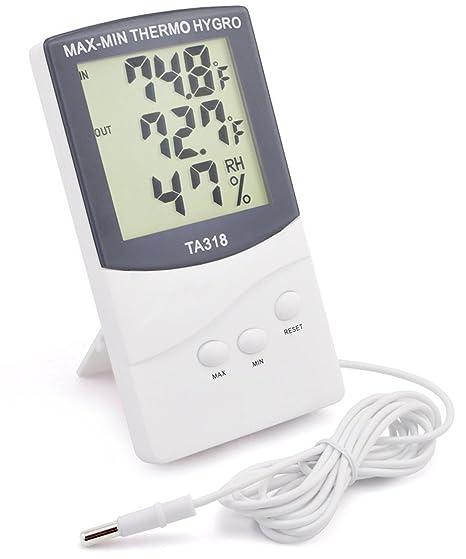 GPCT [2 en 1] [Digital termómetro/higrómetro] Medidor de temperatura.