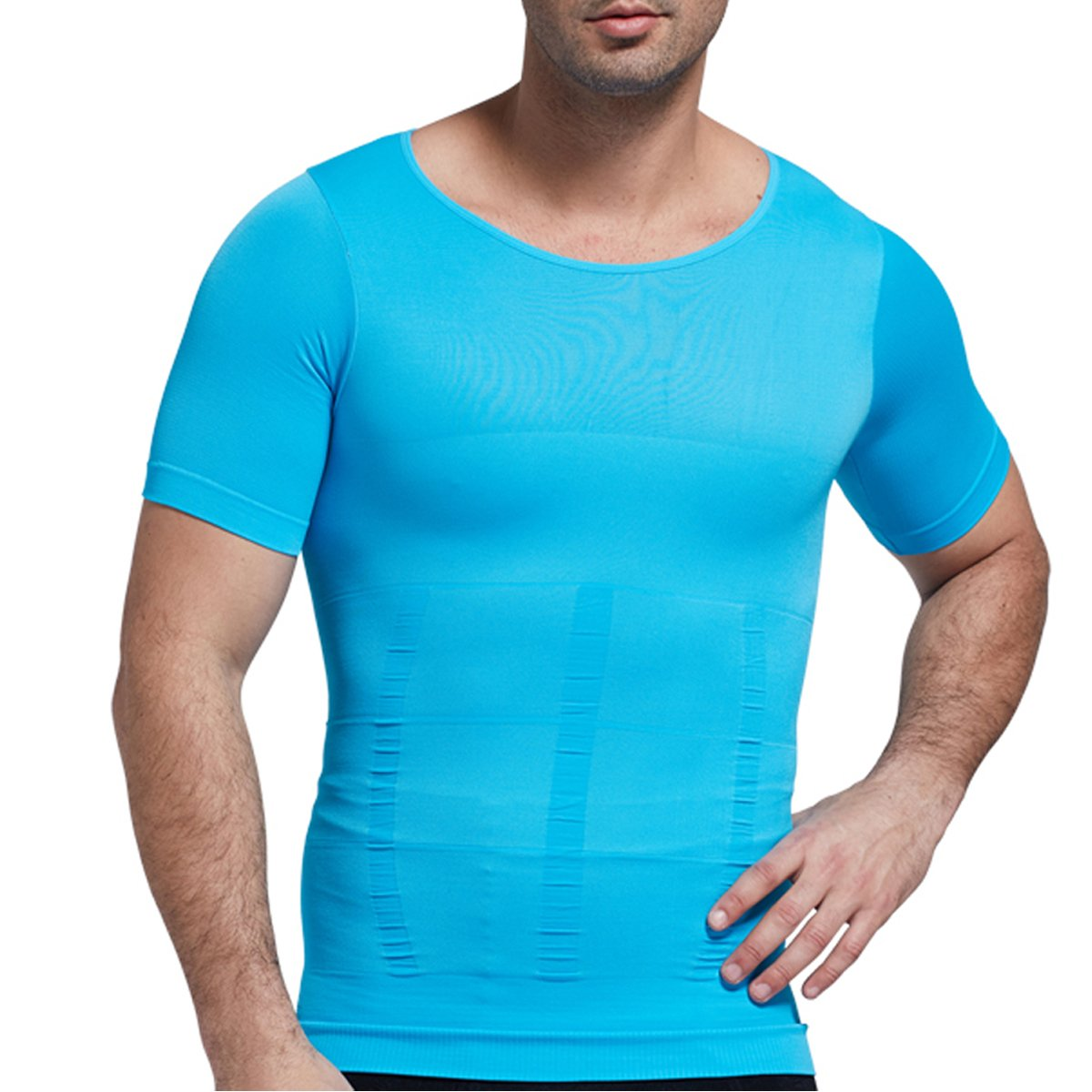 67a7c6298fcd3 Mens Short Sleeve Shirts Slimming Vest Warm Instant Weight Loss Belly Fat  Love Handles Remover Body ...