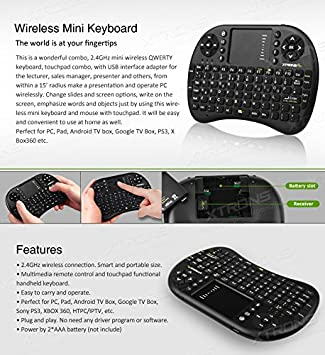 Xtrons 2 4ghz Wireless Mini Keyboard Mouse Touchpad For Amazon De Elektronik