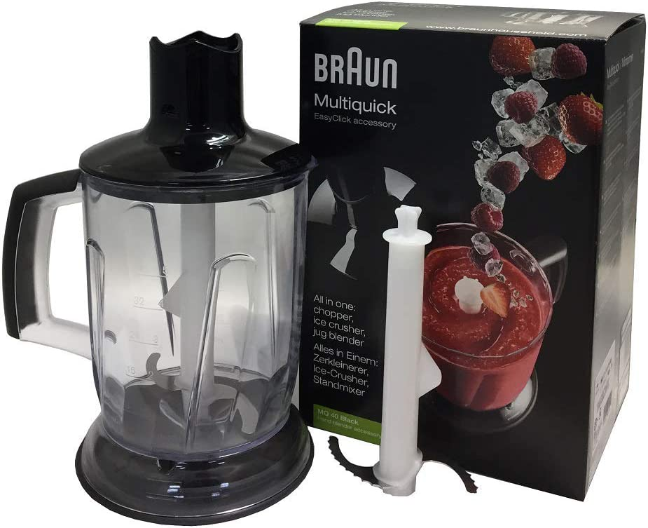 Braun MQ40 Multiquick Hand Blender Jug Blender & Ice Crusher Attachment (Renewed)