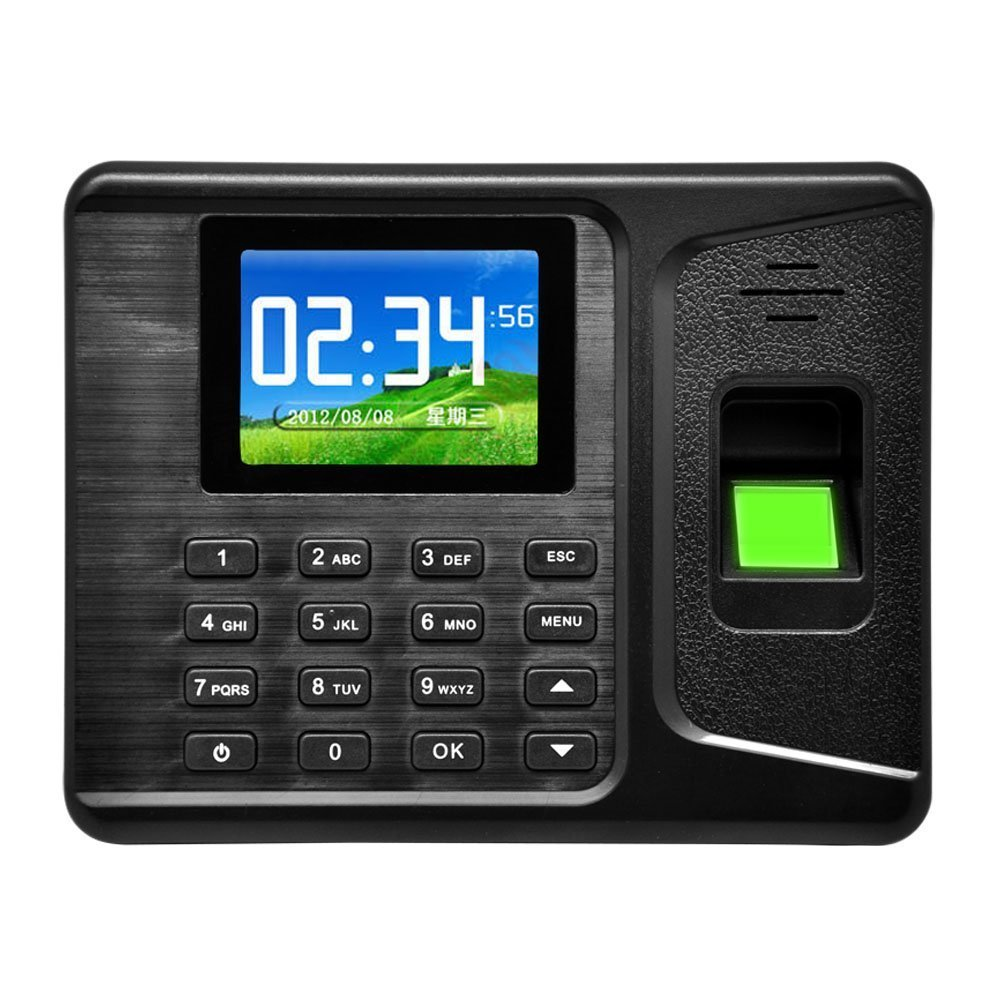 MyEasyShopping Realand A-E260 2.8'' TFT HD Colorful Screen Software-free Fingerprint Attendance Machine Black