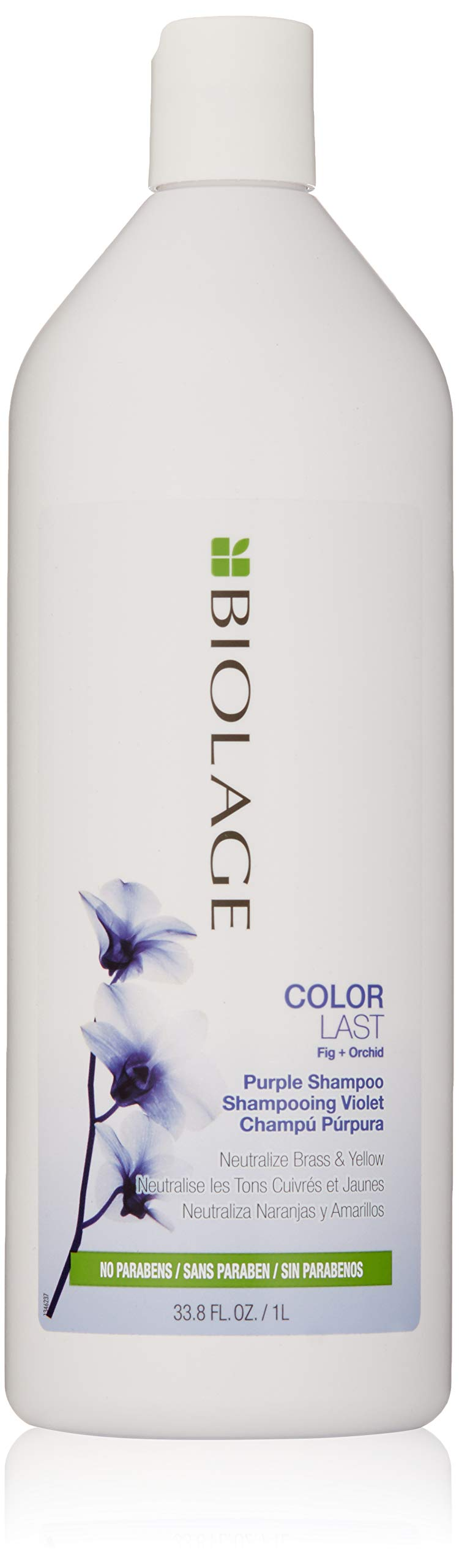 Biolage ColorLast Purple Shampoo with Fig and Orchid for Neutralizing Brass & Yellow, 33.8 fl. oz. by BIOLAGE