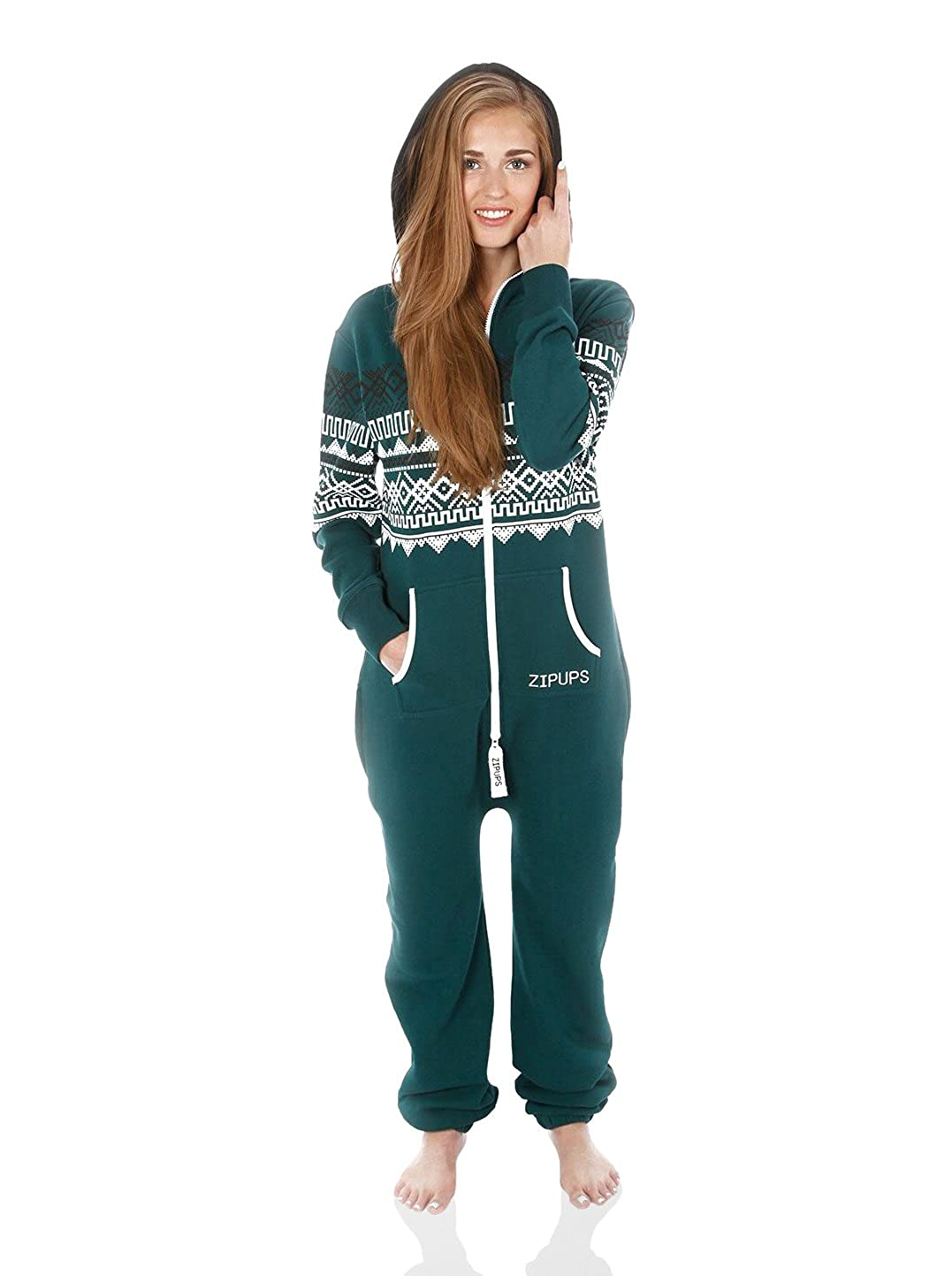 Zipups Mono-Pijama Scandinavia Verde Oscuro XS: Amazon.es: Ropa y accesorios