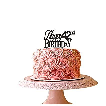 Astonishing Happy 42Nd Birthday Cake Topper For 42Nd Birthday Party Decor Funny Birthday Cards Online Fluifree Goldxyz