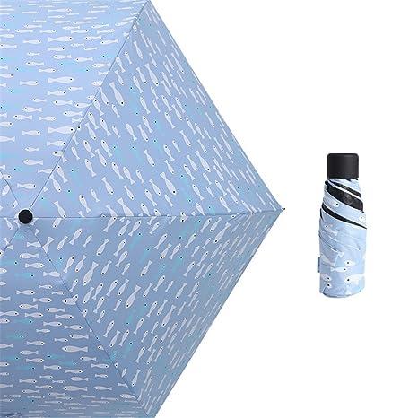 Guoke El Clima Estaba Bien La Lluvia Paraguas Utilice Protector Solar Ultra Pequeño Ultra Light Mini