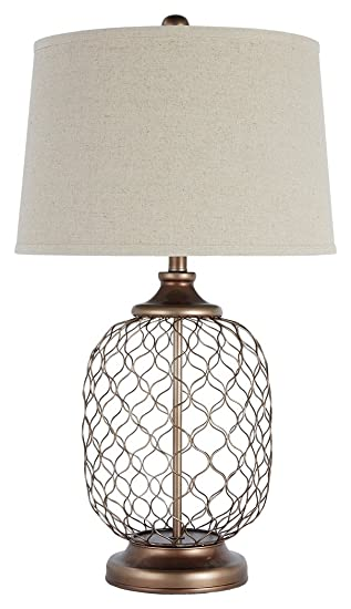 Signature Design By Ashley L207824 Metal Table Lamp, Gold Finish