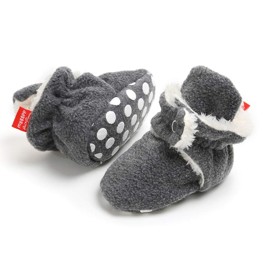 Doux Enfant Pr/émarche Chaussures 12~18 Mois, Bleu fonc/é Cooljun 0-18 Mois Chaussons B/éb/é Filles Gar/çon Bottes Chaud Souple Mignon Coton
