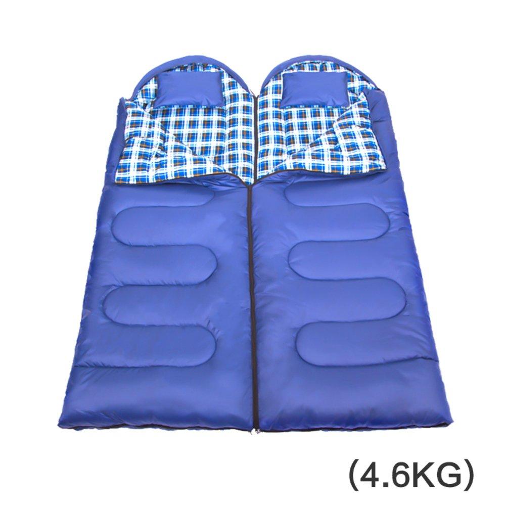 キャンプ 封筒 ミイラ寝袋,探検家 屋外屋内 大人 厚く 暖かい ダブル スリーピング バッグ 四季の B07DR43GLL J J