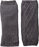 Hat Attack Women's Microfur Arm Warmer Charcoal One Size