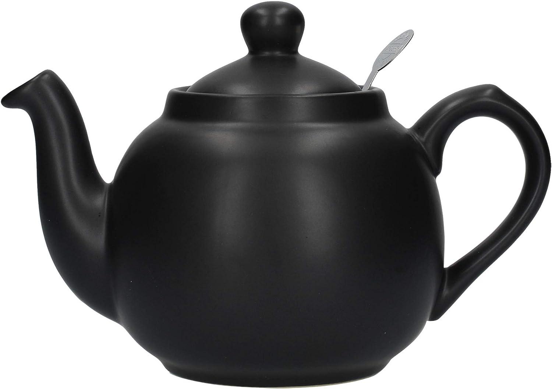 Dexam London Pottery - Tetera de 2 Tazas con Filtro, Color Negro ...