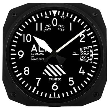 Trintec 10  Aviation Altimeter Instrument Style Wall Clock 3060-10