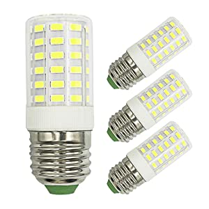 100W Halogen Equivalent Daylight White 6000K LED Light Bulbs, 1000 Lumen 7W, AC 100-265V, E26 Medium Screw Base, Non-Dimmable, 360°Beam Angle No Flicker led Bulb (Pack of 3)