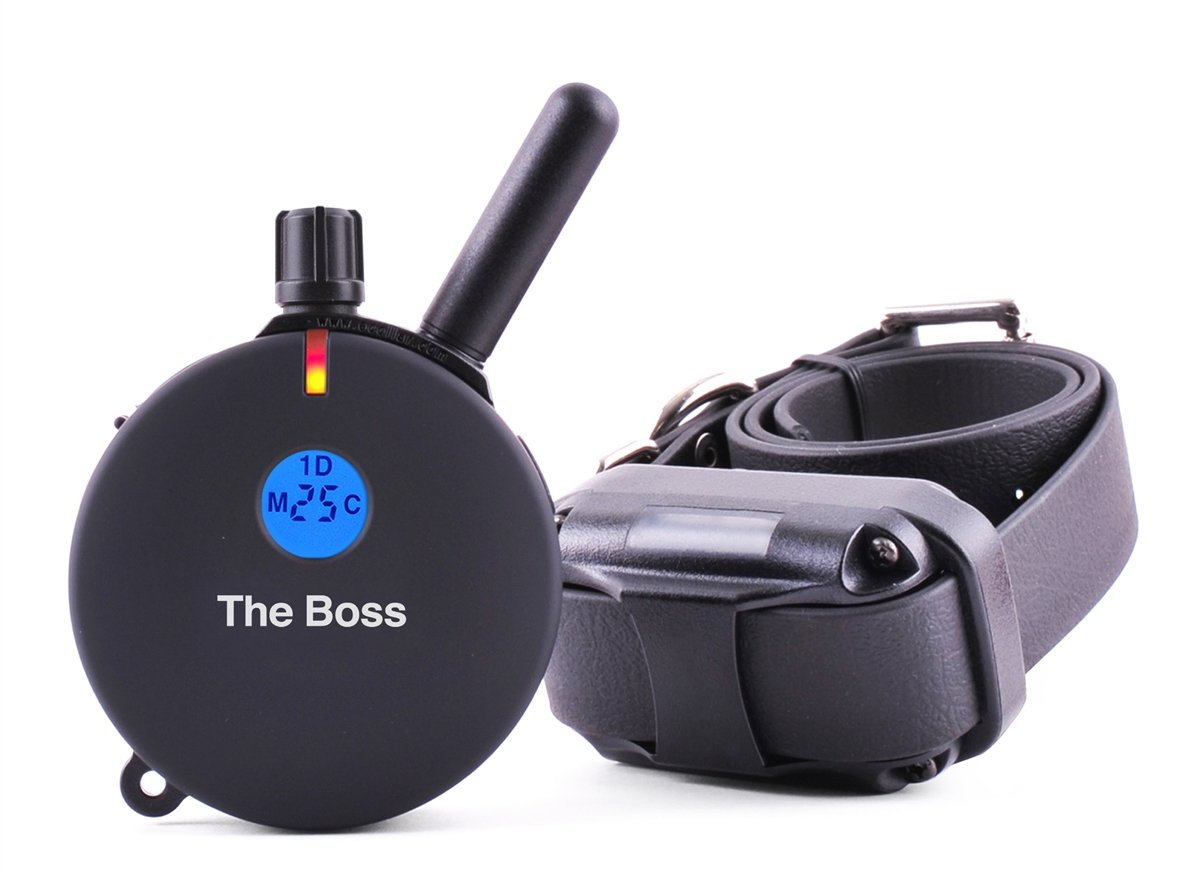 "''The Boss'' E-Collar 1 Mile Big Dog Remote Trainer + FREE UPGRADE to 3/4"" Brass Contact Points by Educator (Image #1)"