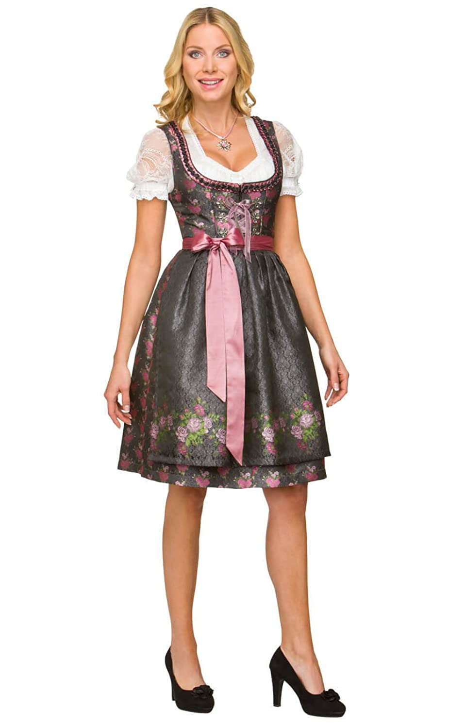 Stockerpoint Women's Dirndl Dress Black Powder