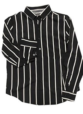 30381900fa61 Gocgt Men Long Sleeves Casual Slim Fit Vertical Striped Button Down Dress  Shirts at Amazon Men's Clothing store: