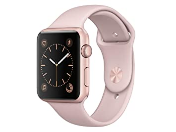 Apple Montre Connectée 42 mm Aluminium Rose Or
