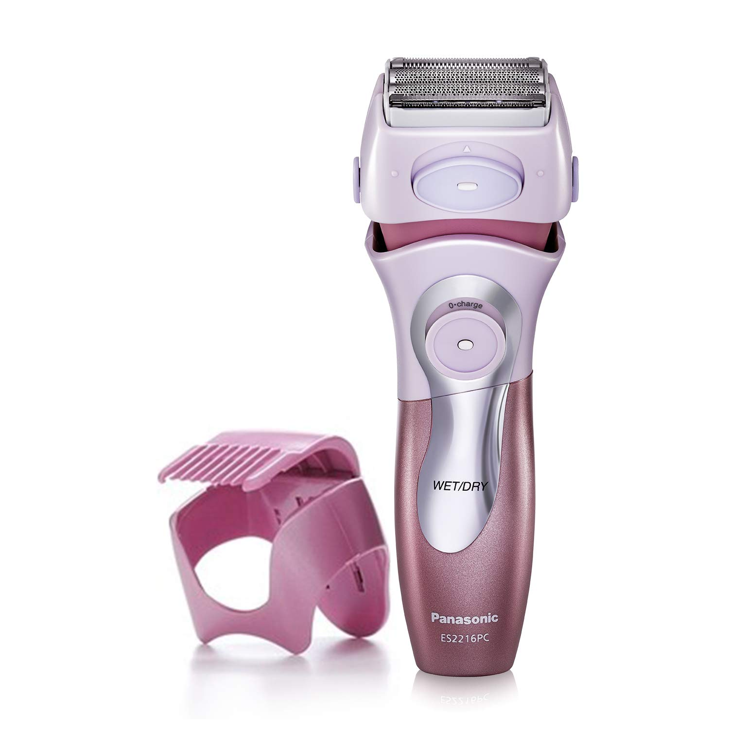 Panasonic Electric Shaver for Women, Cordless 4 Blade Razor, Close Curves,  Bikini Attachment, Pop-Up Trimmer, Wet Dry Operation - ES2216PC