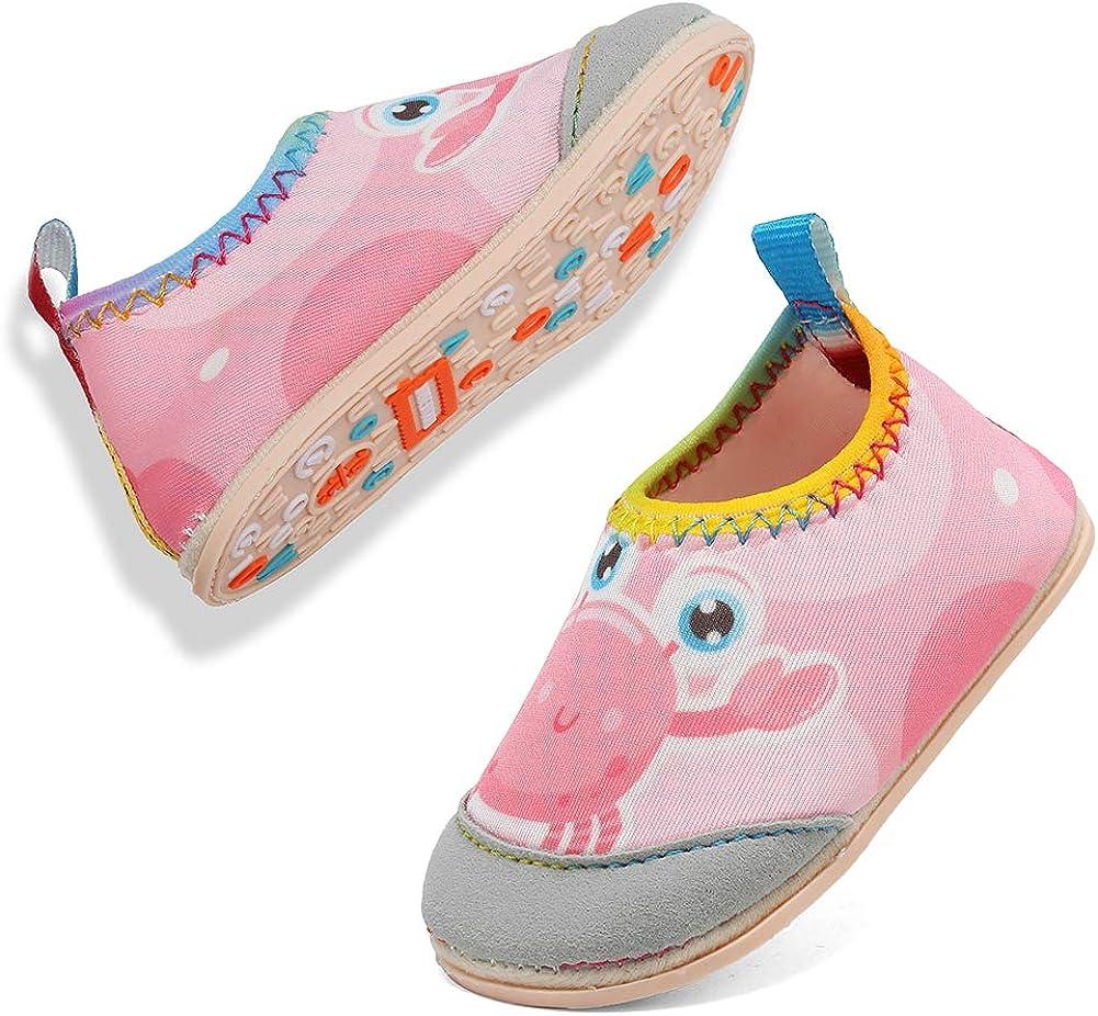 VIFUUR Baby Boys Girls Water Shoes Barefoot Aqua Socks for Beach Pool Indoor Play