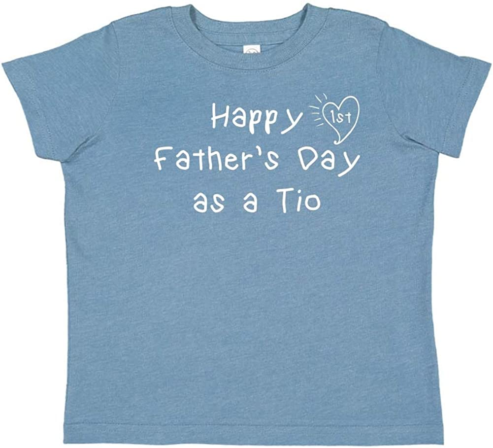 Toddler//Kids Short Sleeve T-Shirt Happy 1st Fathers Day as a TIO Kids Handwriting