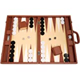 48 x 64 cm Premium-Backgammon-Set - Desert Brown
