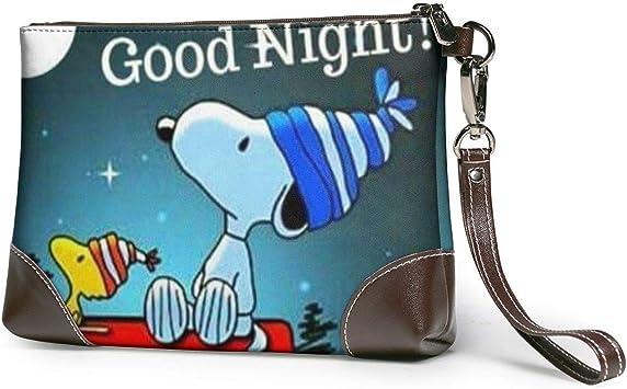 Snoopy Goodnight (3) Carteras de Cuero para Mujer, Carteras para ...
