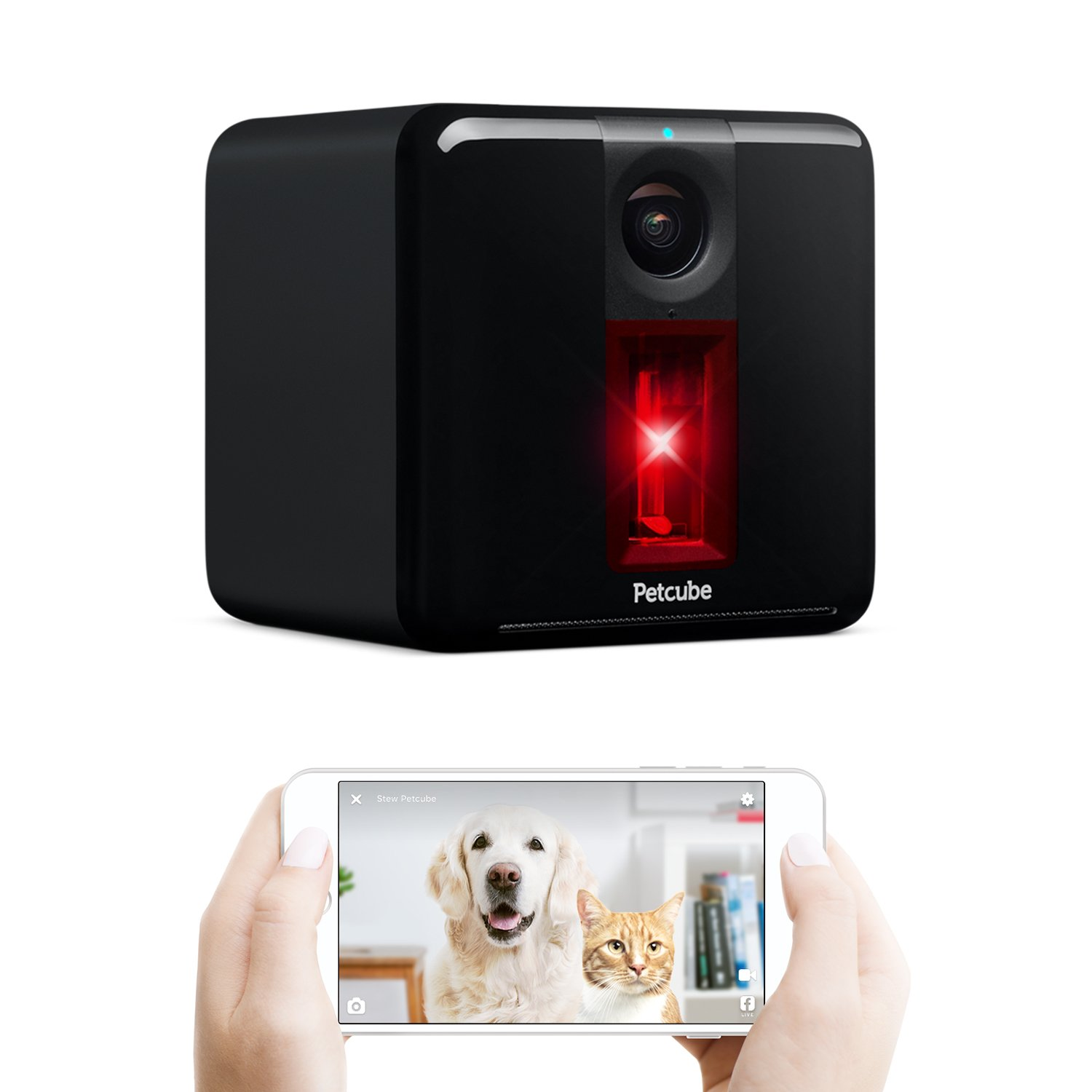 Petcube [2017 Item Play Smart Pet Camera with Interactive Laser Toy. Remote Dog/Cat Monitoring with HD 1080p Video, Two-Way Audio, Night Vision, Sound/Motion Alerts. App-Enabled Pet and Home Safety by Petcube