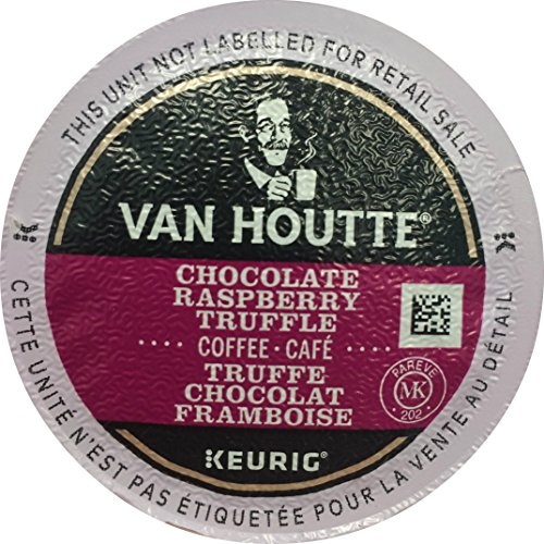 Van Houtte Raspberry Chocolate Truffle Keurig K-Cups, 18 Count, 6.35 OZ (180g) Chocolate Raspberry Truffles
