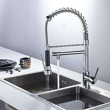 Küche Wasserhahn mit zwei Wasserauslauf 360° Drehbar Mischbatterie ...