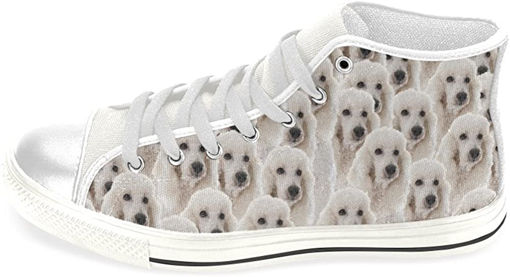 Poodle Shoes High Top Canvas Sneakers
