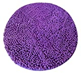 31 inch Round Carpet Floor Area Rug Doormat Cotton Chenille Shaggy LivebyCare Ground Rugs Entrance Entry Way Front Door Mat Runner for Decor Decorative Boys Girls Bed Room