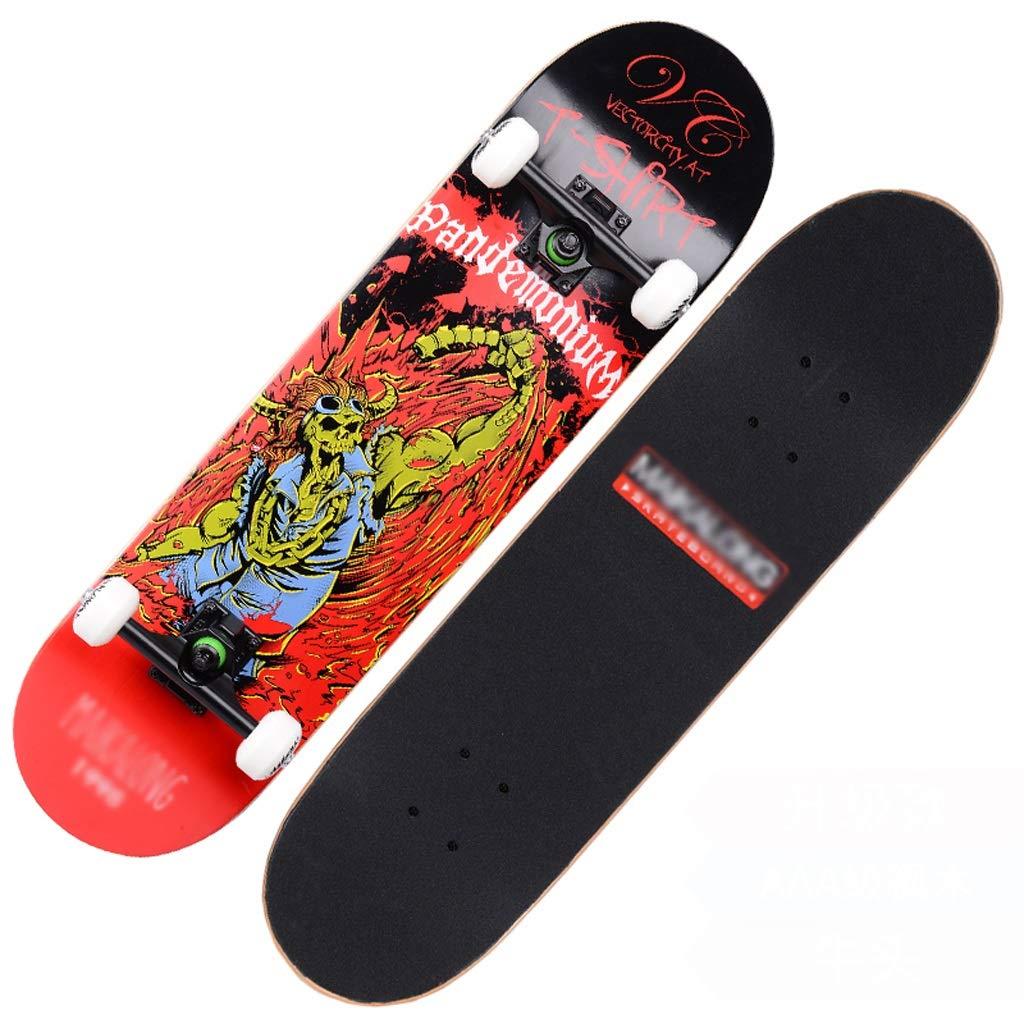 独特の上品 DUWEN スケートボードの十代の若者たちプロ四輪スケートボード子供大人男性と女性ダブルロッカースケートボードメープルスクーター (色 D : B07PM9LRJZ B) B07PM9LRJZ (色 D D, 留萌市:fe474098 --- quiltersinfo.yarnslave.com
