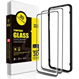 SMARTDEVIL 2 Pack Full Screen Protector Foils for Oneplus 7 Pro Protective Tempered Glass for 6.67 Inch Screen with Installation Tool, High Definition,9H Hardness Support Shockproof, Anti-Scratch
