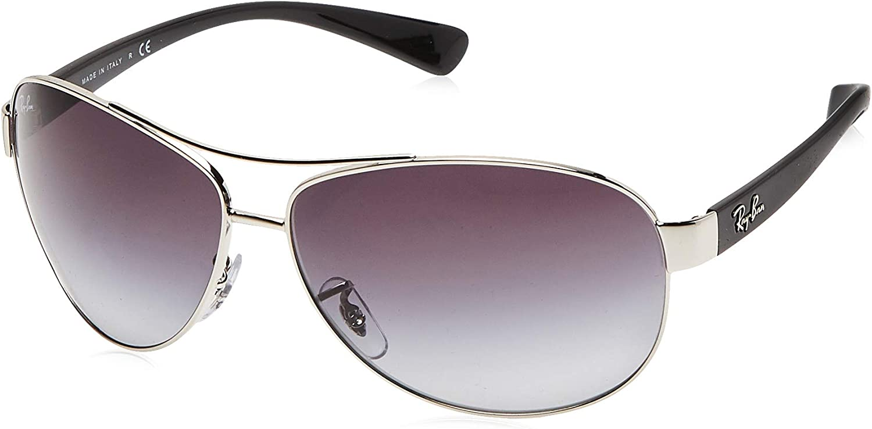 RAY-BAN RB 3386 Gafas de sol, Silver, 67 para Hombre
