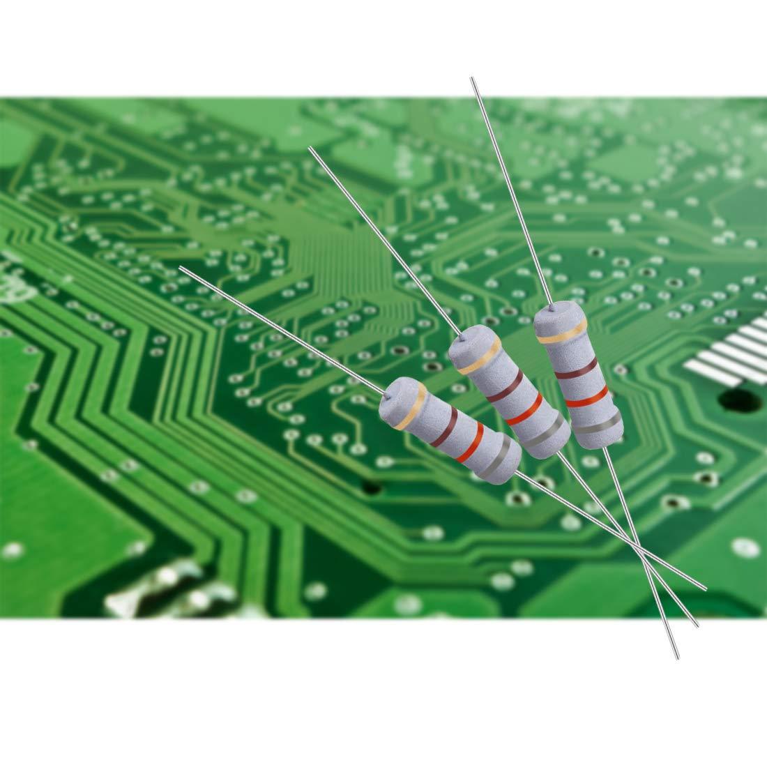 10 Pcs 5W 5 Watt Metal Oxide Film Resistor Axial Lead 27 Ohm ±5/% Tolerance