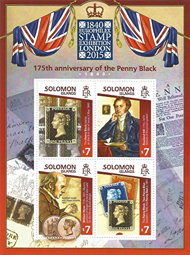 Old Stamp Mint (Penny Black 175th Anniversary Europhilex 2015 stamp sheet with Rowland Hill and William Wyon / MNH)