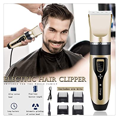 Alelife Metal Professional Hair Clipper Electric Cordless Hair Grooming Home Haircut DIY Yourself: Toys & Games