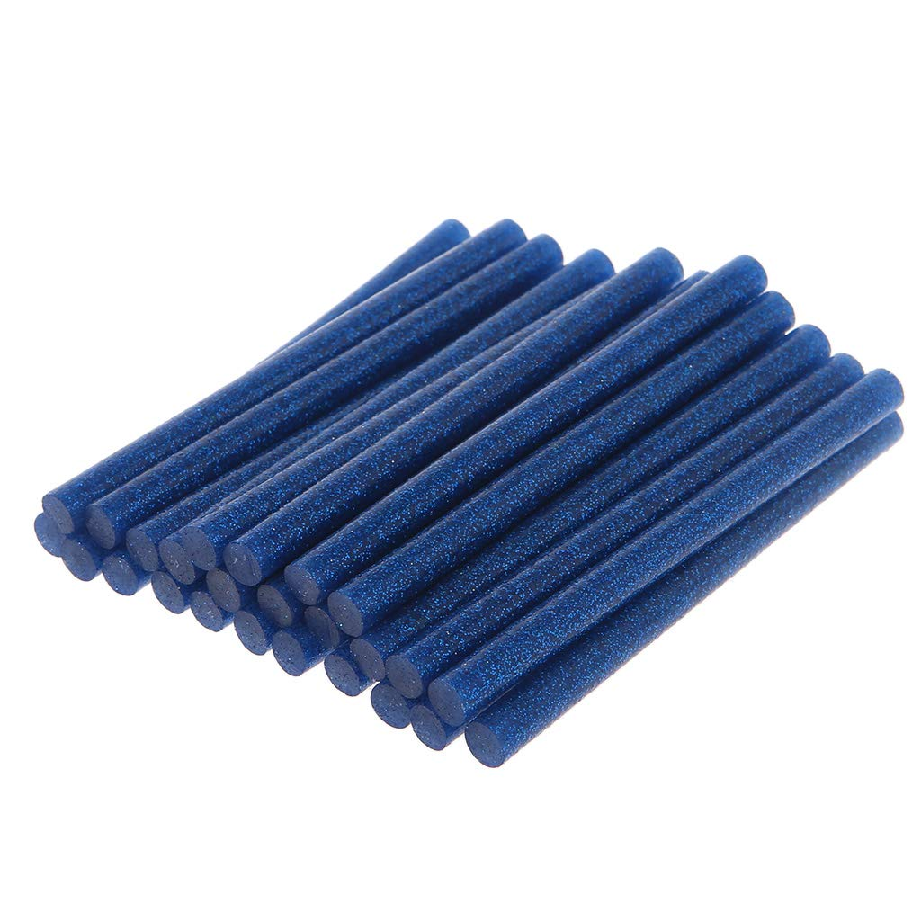Blue BloomingJS 25pcs 100g Hot Melt Glue Stick Glitter 7x100mm Adhesive for DIY Craft Toy Repair