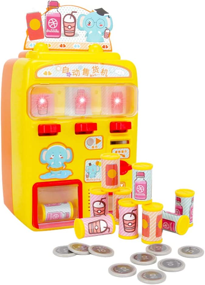 NUOBESTY Máquina expendedora de juguetes, máquinas de bebidas, juguetes de compras, juguetes de casa, juguetes para niños, niñas, regalo de cumpleaños