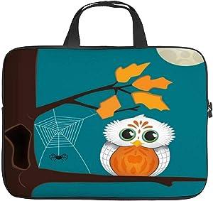 Neoprene Sleeve Laptop Handle Bag Handbag Notebook Case Cover Owl Halloween Portable MacBook Laptop/Ultrabooks Case Bag Cover 17 Inch