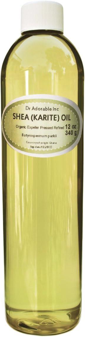 Karite de karité Aceite refinado Pure Organic 12oz