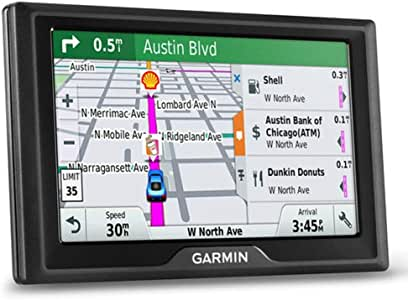Garmin Drive 50 USA LMT GPS Navigator System with Lifetime Maps and Traffic, Driver Alerts, Direct Access, and Foursquare data (Renewed)