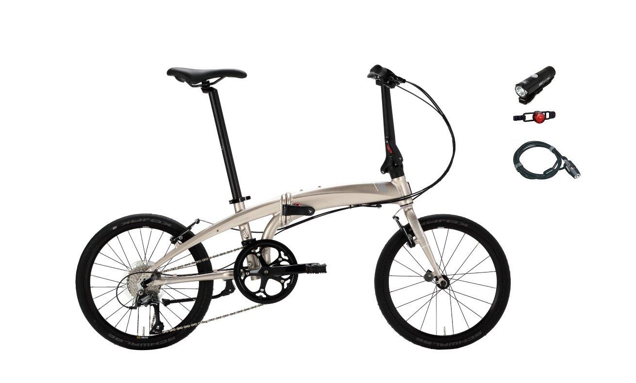 2018年モデル Tern(ターン) Verge N8(ヴァージュ N8) 20インチ折り畳み自転車 (ペイルゴールド/シルバー) B07459SZX8